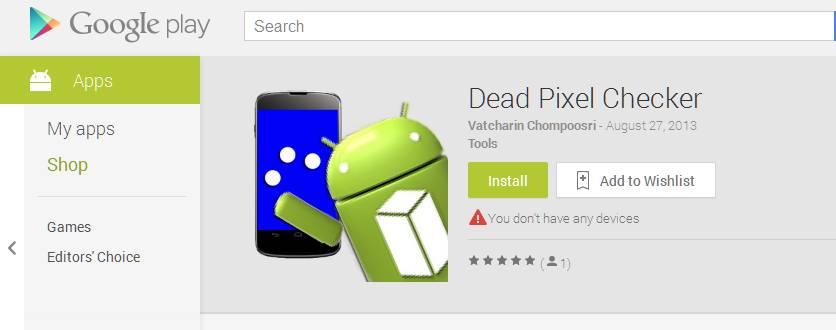 Dead Pixel Checker App
