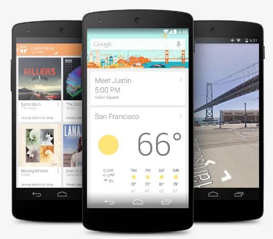 Galaxy Nexus 5 on Google Play