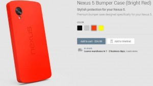 Red Nexus 5 Bumper Case