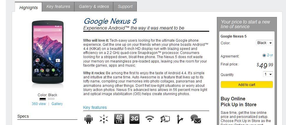 Nexus on Sprint