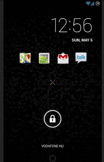 AOKP Home screen