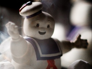 marshmallow man excited about Android